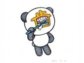 キレーに歯を磨こうと真剣になればなるほど、ブサイクな顔になっちゃうね(笑)。